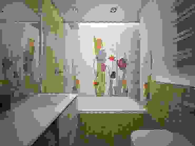 квартира в ЖК Garden Park Эдальго Ванная комната в стиле минимализм от AG design Минимализм Керамика