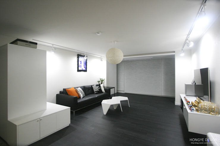 Salones de estilo moderno de 홍예디자인 Moderno