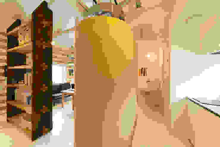 15坪の平屋のリフォーム 北欧スタイルの お風呂・バスルーム の デザインプラネッツ一級建築士事務所 北欧
