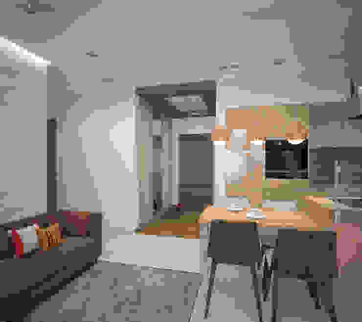 Квартира 55 кв.м. в ЖК <q>Европейский берег</q> Кухня в стиле минимализм от Студия дизайна Виктории Силаевой Минимализм