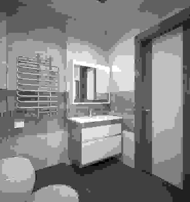 Квартира 55 кв.м. в ЖК <q>Европейский берег</q> Ванная комната в стиле минимализм от Студия дизайна Виктории Силаевой Минимализм