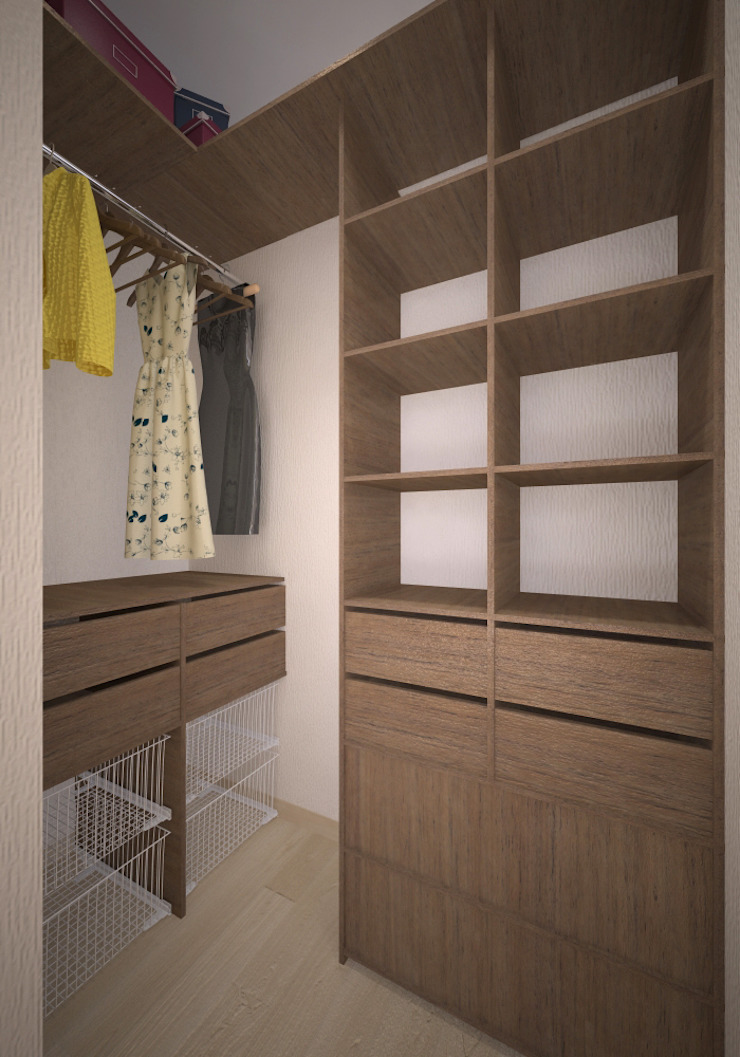 Квартира 55 кв.м. в ЖК <q>Европейский берег</q> Гардеробная в стиле минимализм от Студия дизайна Виктории Силаевой Минимализм