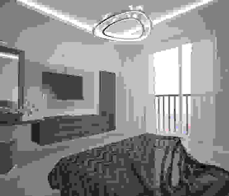 Квартира 55 кв.м. в ЖК <q>Европейский берег</q> Спальня в стиле минимализм от Студия дизайна Виктории Силаевой Минимализм