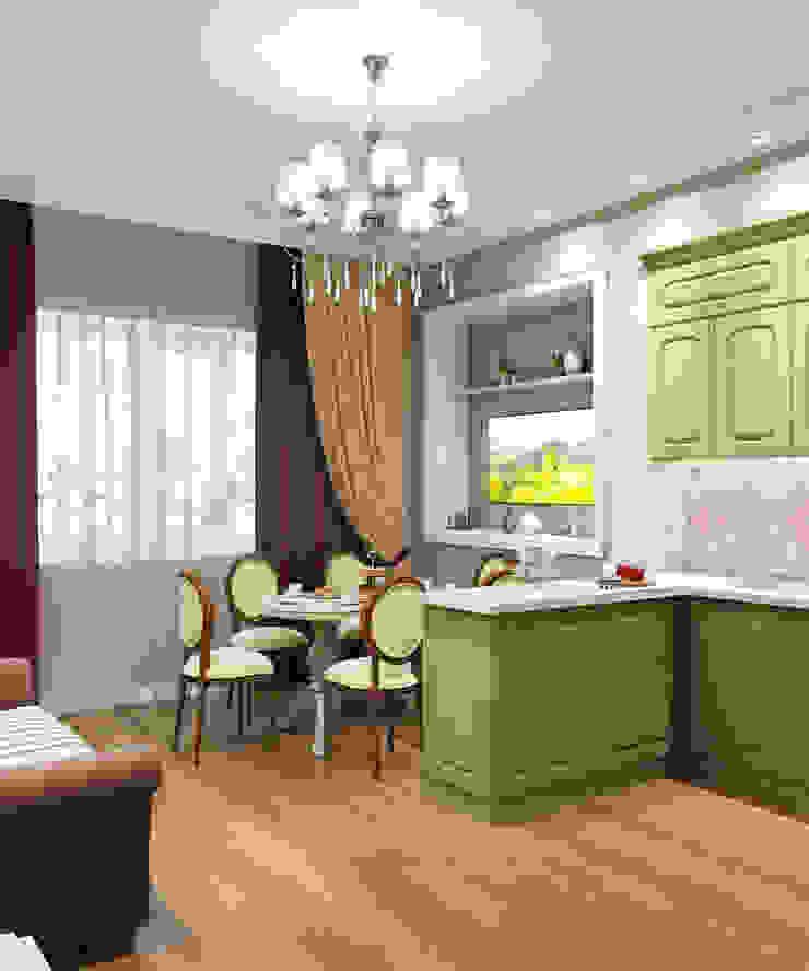 Квартира 55 кв.м. на Дзержинского Кухня в классическом стиле от Студия дизайна Виктории Силаевой Классический