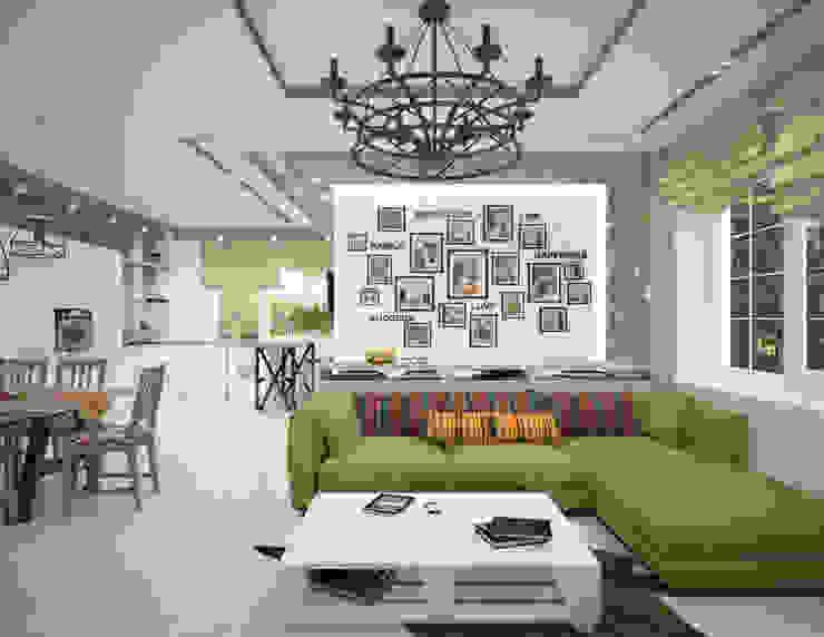 Salas de estilo minimalista de Студия дизайна Виктории Силаевой Minimalista