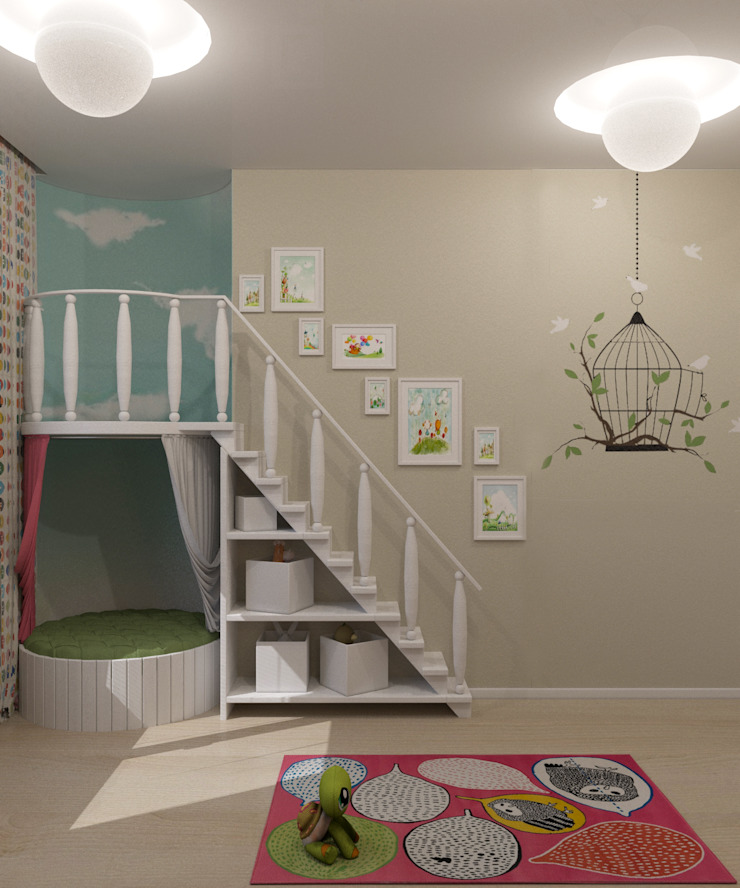 Habitaciones para niños de estilo minimalista de Студия дизайна Виктории Силаевой Minimalista