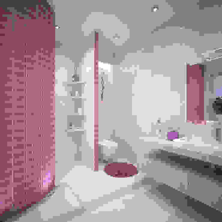 Второй этаж, сан.узел при спальне Ванная комната в стиле минимализм от Студия дизайна Виктории Силаевой Минимализм