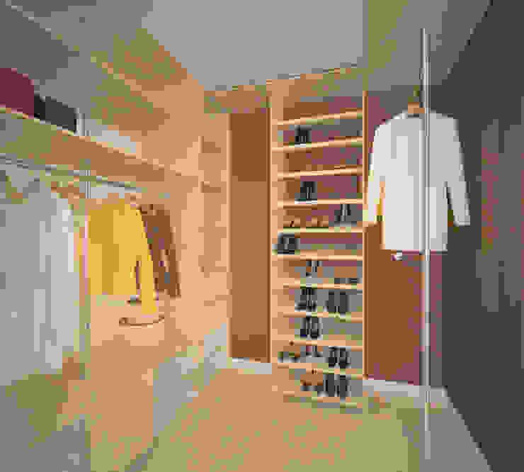 Vestidores de estilo minimalista de Студия дизайна Виктории Силаевой Minimalista
