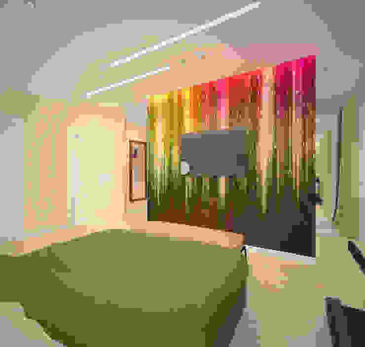 Habitaciones de estilo minimalista de Студия дизайна Виктории Силаевой Minimalista
