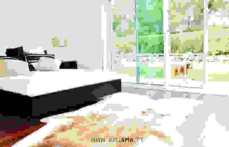 Moradia Golf Quartos campestres por ARQAMA - Arquitetura e Design Lda Campestre
