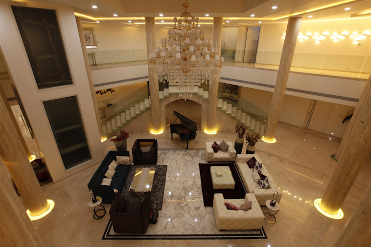 NEMI VILLA Modern corridor, hallway & stairs by INNERSPACE Modern
