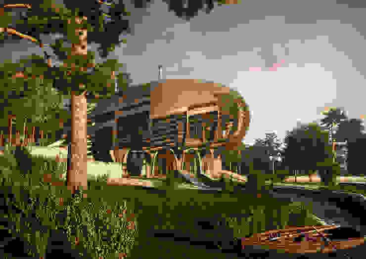 UFO House Дома в стиле минимализм от Архитектурное и дизайнерское бюро WithArch Минимализм