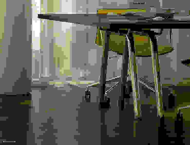 Crop of office chair and desk. Modern study/office by homify Modern Aluminium/Zinc