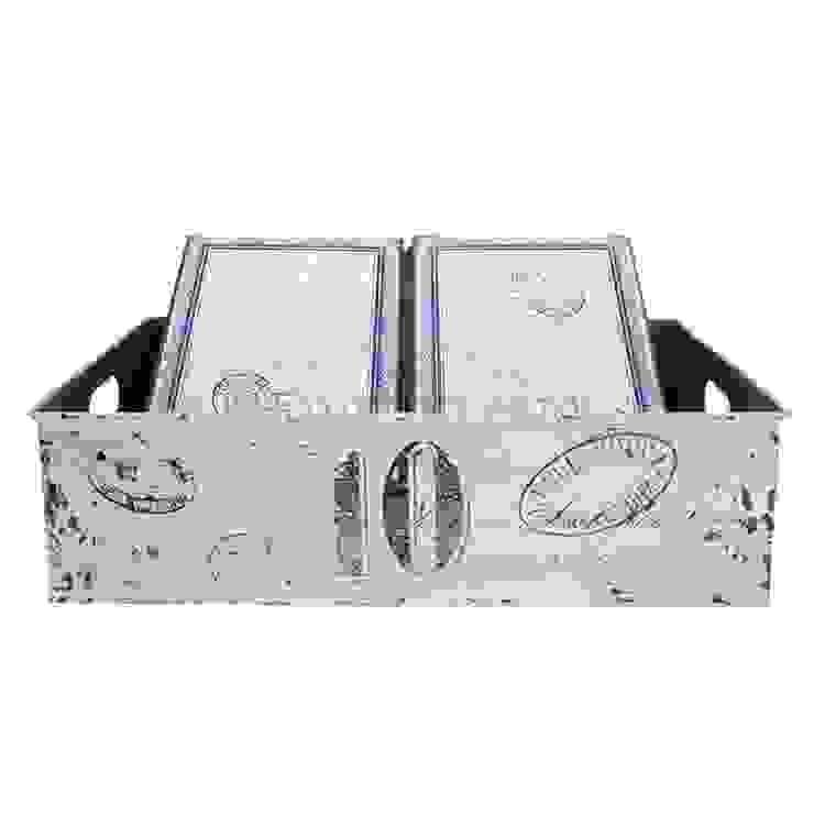 Поднос с двумя коробками GreenGate Fay White G028 от LeHome Interiors Классический Металл