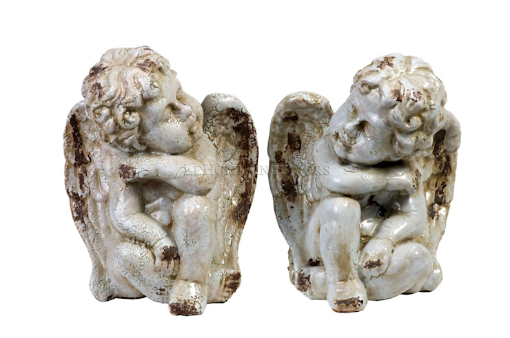 Статуэтка Ангел (комплект из 2-х штук) V138 от LeHome Interiors Классический Керамика