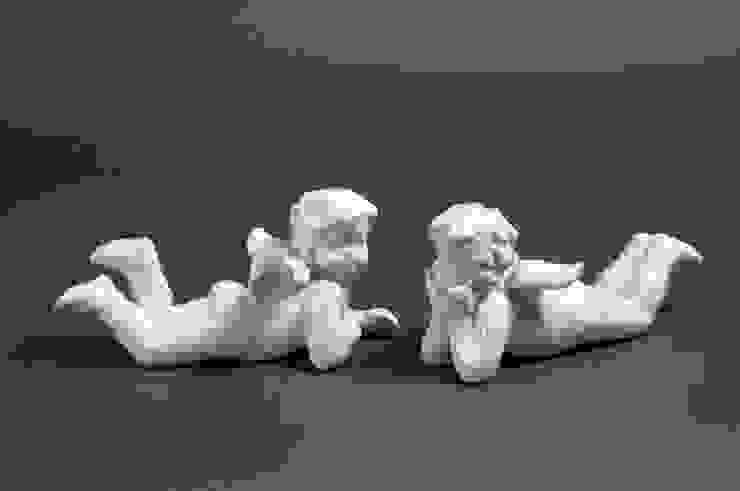 "Статуэтка ""Лежащий ангел"" V173 от LeHome Interiors Классический Фарфор"