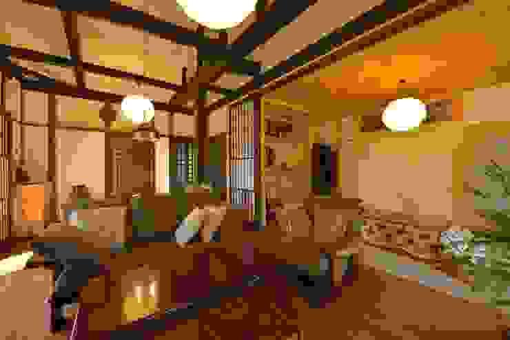 御用堀の家 オリジナルデザインの リビング の ISO設計室 オリジナル