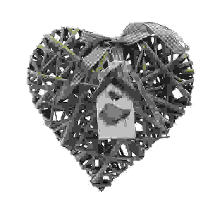 Декор. Сердце подвесное плетеное V864 от LeHome Interiors Классический Дерево Эффект древесины