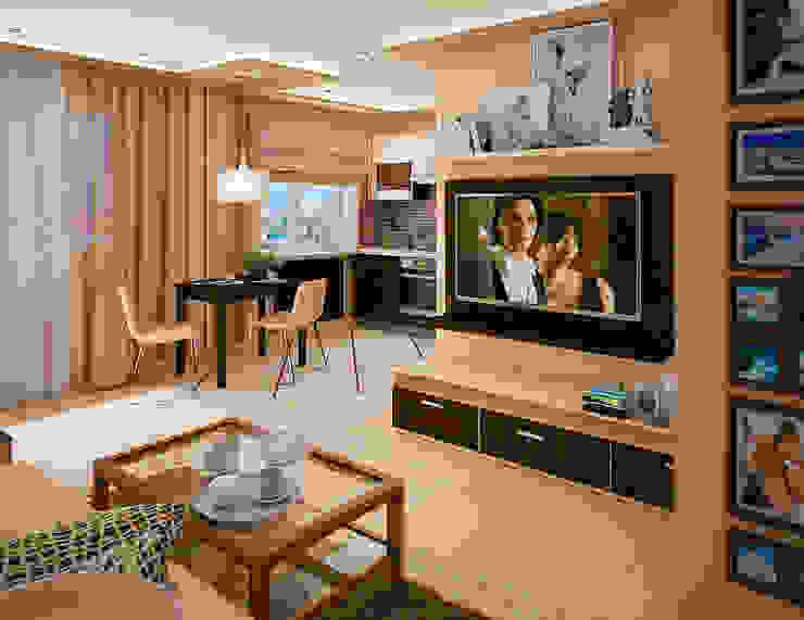 Дизайн интерьеров хрущевки Гостиная в стиле модерн от Алина Насонова Модерн
