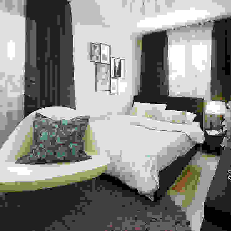 Дизайн интерьеров хрущевки Спальня в стиле модерн от Алина Насонова Модерн