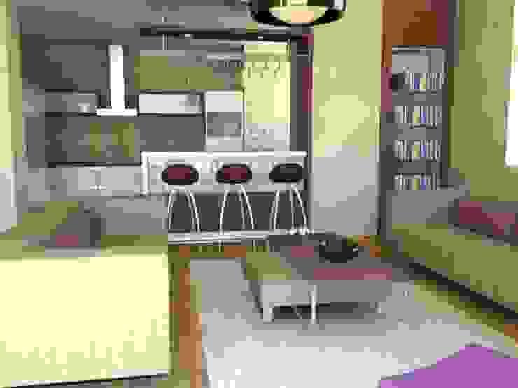 KONUT PROJESİ Modern Oturma Odası GENT İÇ MİMARLIK Modern