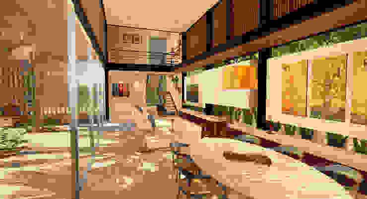Casa Alphaville Salas de estar modernas por Macro Arquitetos Moderno