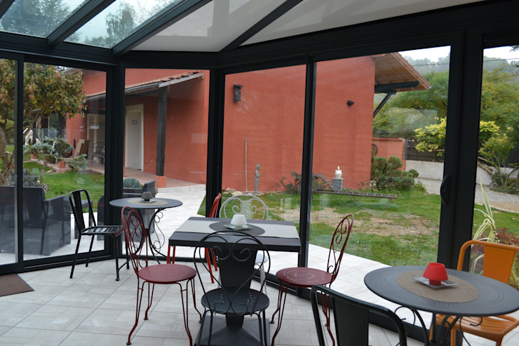 Véranda Balcon, Veranda & Terrasse originaux par KREA Koncept Éclectique