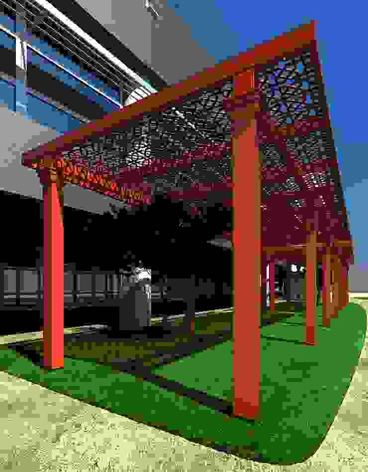 PERGOLART – Holding Rekreasyon Alanı : modern tarz , Modern Ahşap-Plastik Kompozit