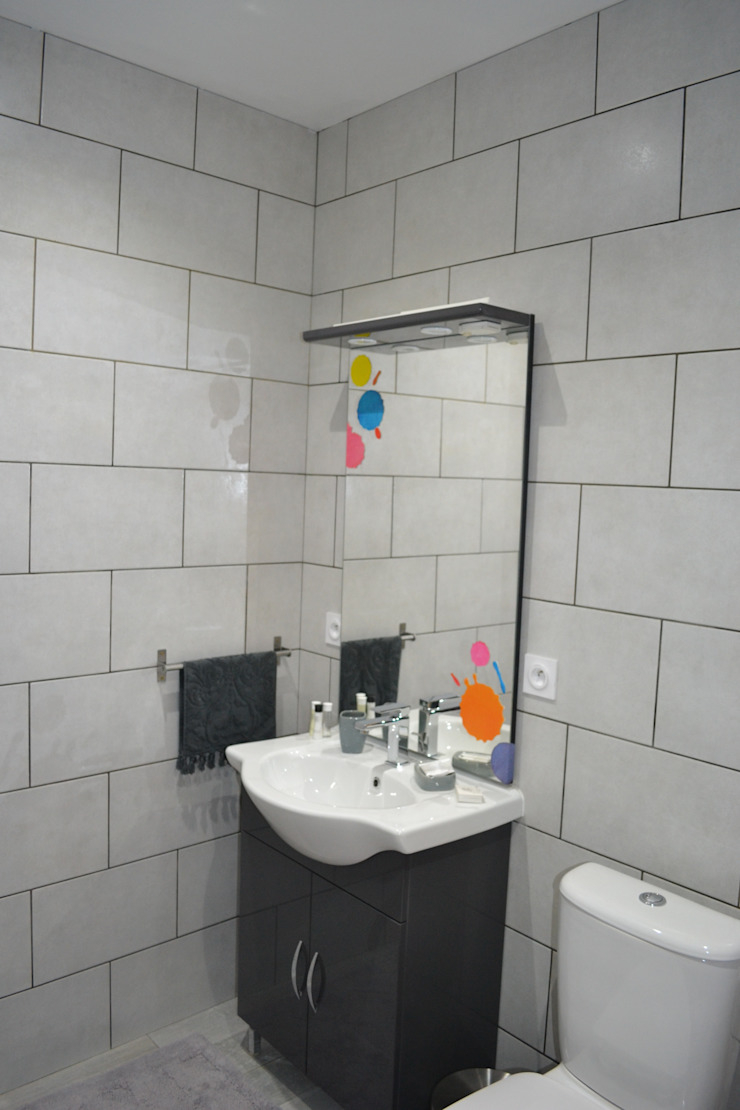 Salle d'eau de la chambre Arty Salle de bain originale par KREA Koncept Éclectique
