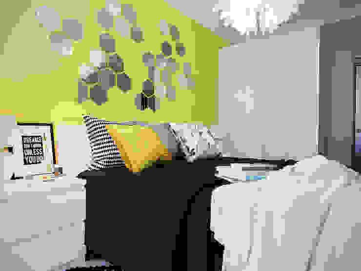Спальня с желтыми акцентами Спальня в стиле модерн от Коваль Татьяна Модерн