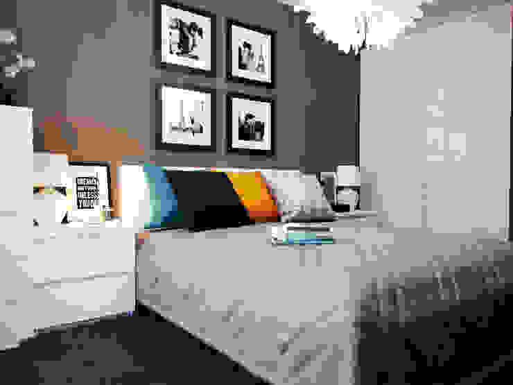 Спальня с бирюзовыми акцентами Спальня в стиле модерн от Коваль Татьяна Модерн