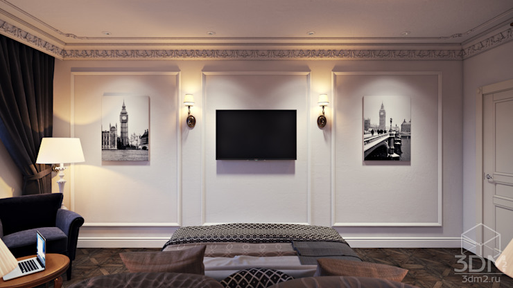 Проект 041: спальня Спальня в стиле минимализм от студия визуализации и дизайна интерьера '3dm2' Минимализм