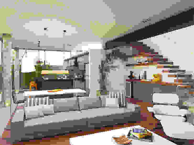 Casa L.&J. Salas de estar modernas por Macro Arquitetos Moderno