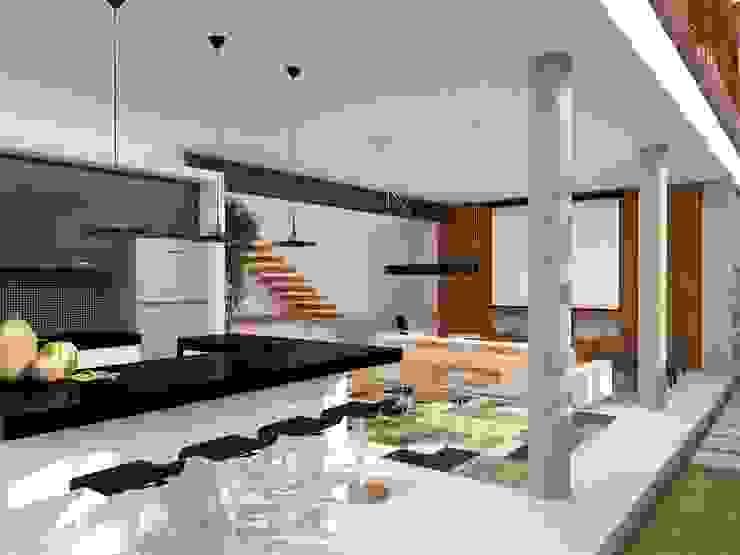 Casa L.&J. Cozinhas modernas por Macro Arquitetos Moderno