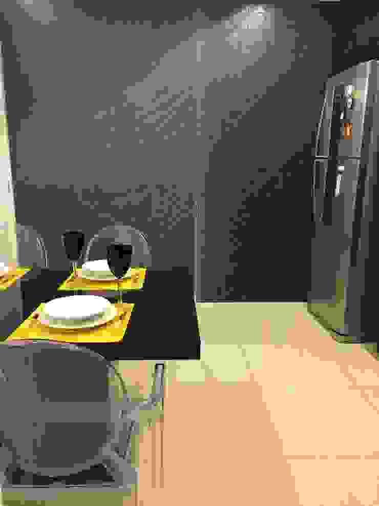 Cozinha – All Black Cozinhas modernas por Palloma Meneghello Arquitetura e Interiores Moderno