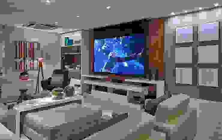 Decora Lider Vitória – Sala de estar, Home Theater e Jantar Salas multimídia modernas por Lider Interiores Moderno