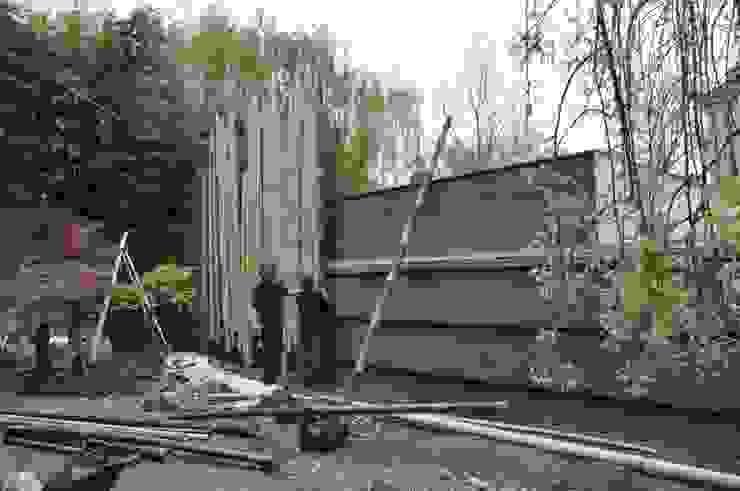 Palissade en bambou en construction pour jardin japonais Jardin asiatique par Taffin Asiatique Bambou Vert
