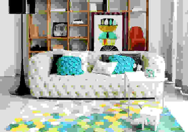 de Entre Led e Design Minimalista Textil Ámbar/Dorado
