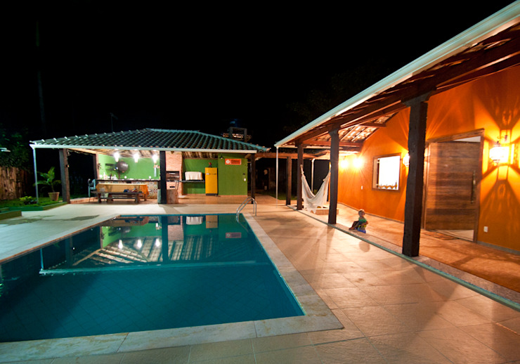 Rustic style house by Jaqueline Vale Arquitetura Rustic