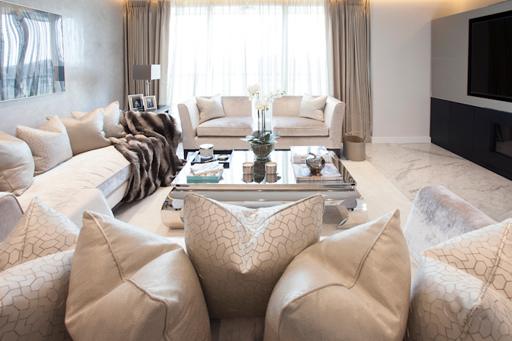 Thames Quay JHR Interiors Living roomAccessories & decoration