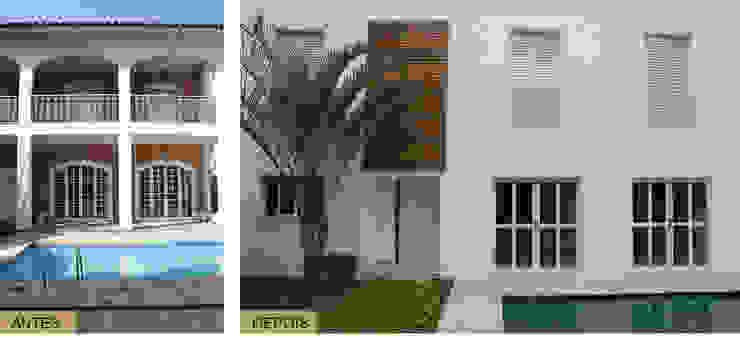 Antes e Depois - Fachada Daniela Zuffo Arquitetura e Interiores Casas modernas