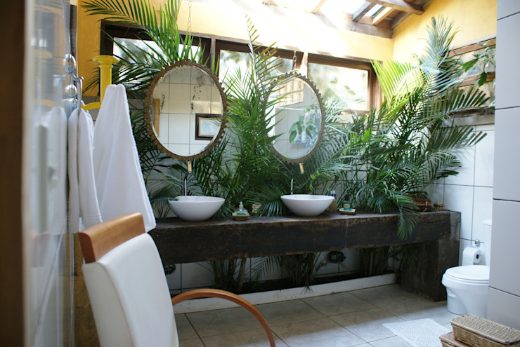 Baños de estilo rústico de Daniela Zuffo Arquitetura e Interiores Rústico