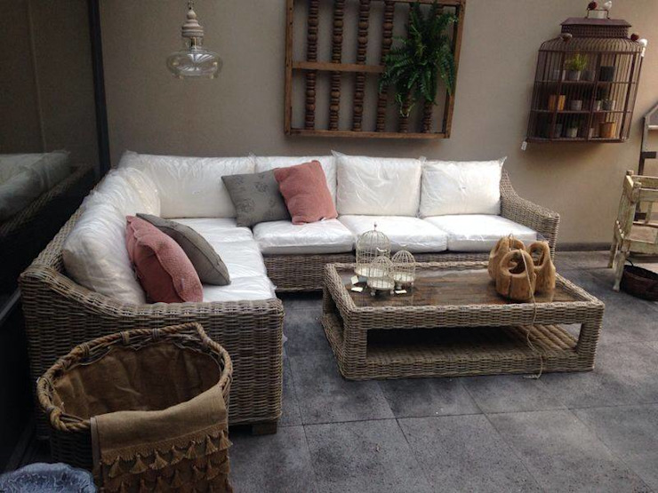 rustic  by Sand And Garden SA de CV, Rustic Rattan/Wicker Turquoise