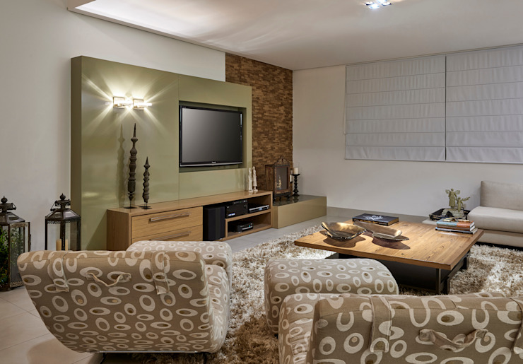 Wohnzimmer von Isabela Canaan Arquitetos e Associados, Modern