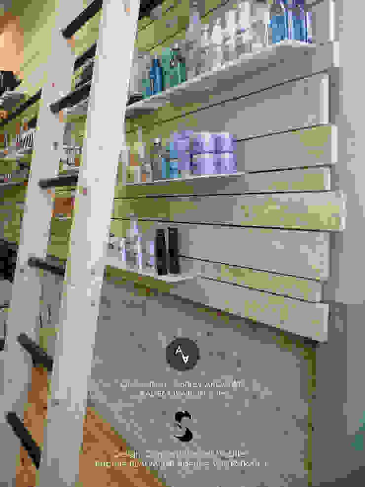 Relooking d'un salon de coiffure à Toulouse (31) Locaux commerciaux & Magasin originaux par Audrey Ardalan Éclectique