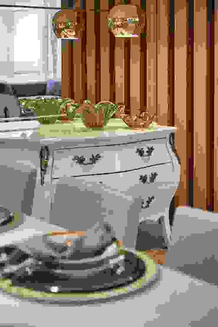 Decora Lider Vitória – Sala de Estar e Jantar Para o Casal Sofisticado Salas de estar modernas por Lider Interiores Moderno