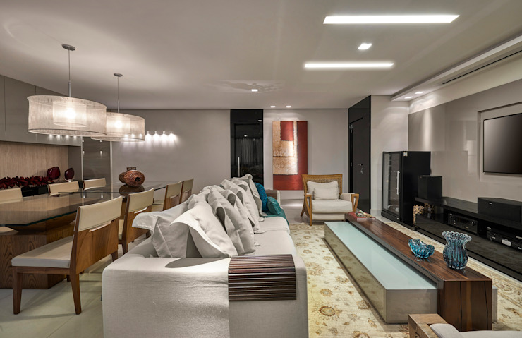 Salon moderne par Isabela Canaan Arquitetos e Associados Moderne