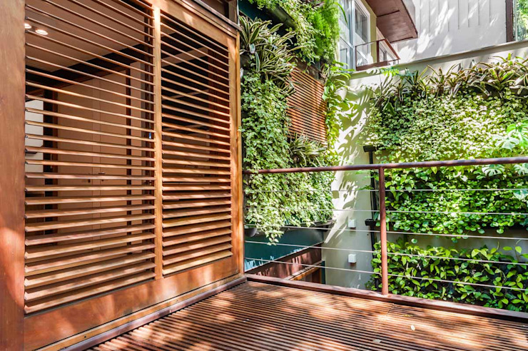 Ruang Studi/Kantor Tropis Oleh MPV Arquitetura Ltda Tropis Parket Multicolored