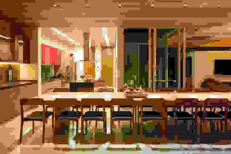 Casa Malva, Bloco Arquitetos Salas de jantar modernas por homify Moderno