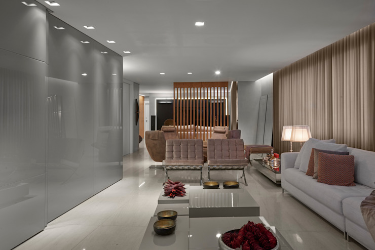 Apartamento ME Salas de estar modernas por Isabela Canaan Arquitetos e Associados Moderno